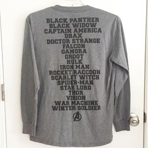 Marvel Super Heroes Spellout Long Sleeve Size M